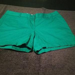 Green j crew Chino shorts